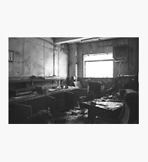 Urban Exploration - Forgotten Music Room Photographic Print