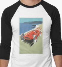 Cute vintage car Men's Baseball ¾ T-Shirt