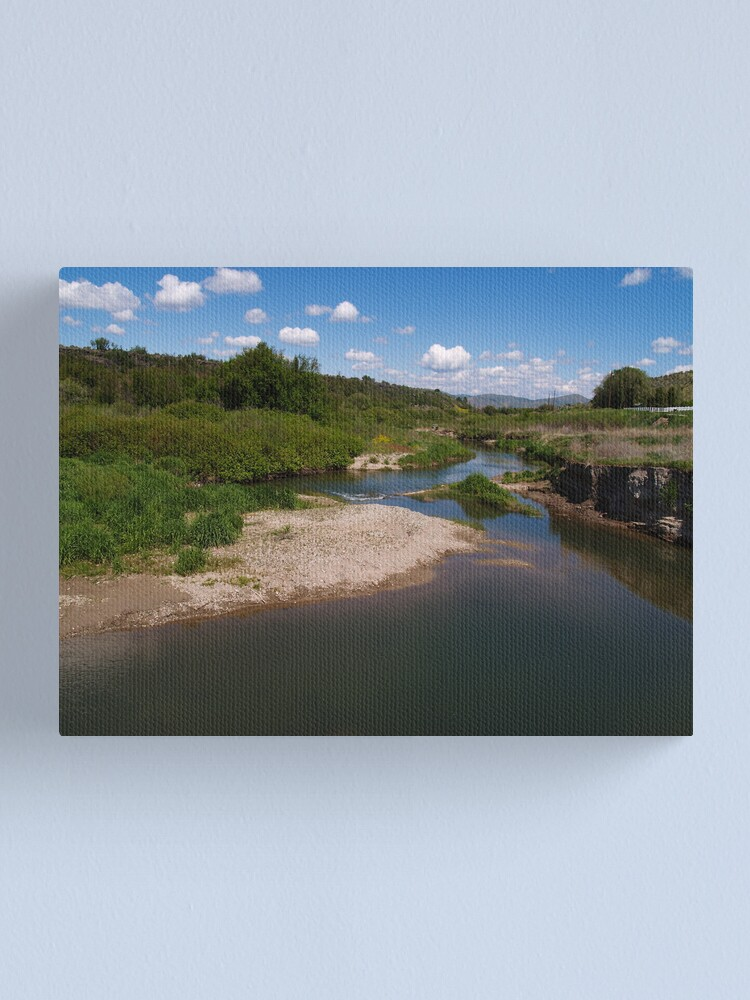 Alternate view of Pausing by Pebble Creek Canvas Print