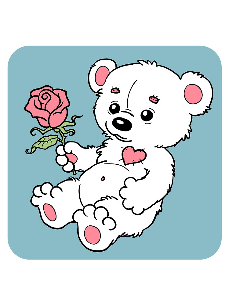 Teddy Bear With Rose by trAt