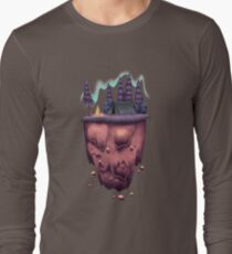 Floating Island with Aurora Borealis T-Shirt