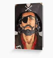 Key West Art - A Pirate On The Street © Greeting Card