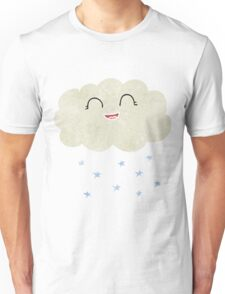 retro cartoon cloud snowing Unisex T-Shirt