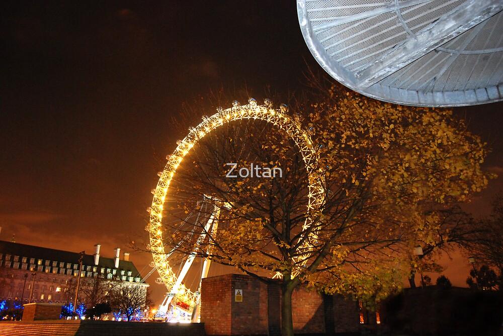 London at Night Xmass by Zoltan
