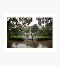 The Fountain In Forsyth Park Art Print