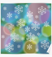 abstract snow background Poster