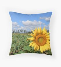 Sunny Hillside Throw Pillow