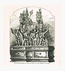 Entrance guards Temple at Ayenar India Photographic Print