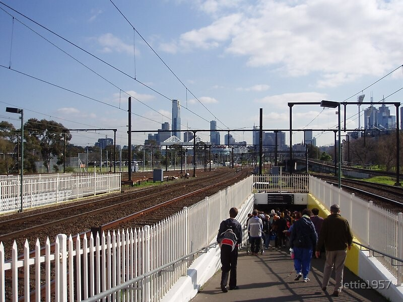 Melbourne - from Richmond Railway Station by lettie1957