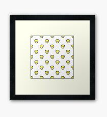Angry Emoji Graphic Pattern Framed Print
