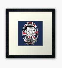 God save the king Bean Framed Print