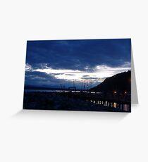 Evening Dock Greeting Card