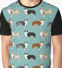 Australian Shepherd owners dog breed cute herding dogs aussie dogs animal pet portrait hearts by PetFriendly Graphic T-Shirt