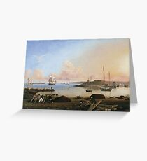 Fitz Henry Lane - The Fort And Ten Pound Island, Gloucester, Massachusetts Greeting Card