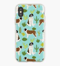 Haustier-Kaktus-südwestlicher einzigartiger Hund des Bernhardiner-Hunderasses Hundekleidung von PetFriendly iPhone-Hülle & Cover