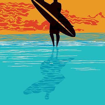 Surfer silhouette by Sloosh