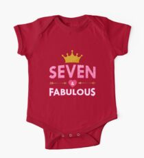 Cute 7th Birthday For Girls Princess Crown Seven Kids Clothes