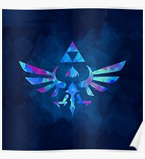 Skyward Sword Paint Blue Poster