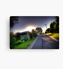 Sunset in Suburbia Canvas Print