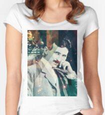 Nikola Tesla Women's Fitted Scoop T-Shirt