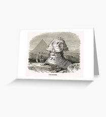Great Sphinx of Giza & Pyramid Egypt Greeting Card