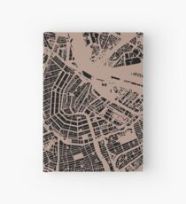Amsterdam urban space map Hardcover Journal