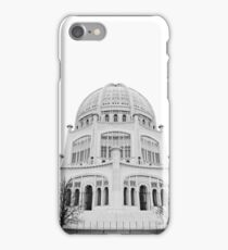 Bahai Temple Black and White 2 iPhone Case/Skin