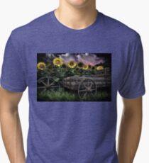 Sunflowers Abound- Rain Tri-blend T-Shirt
