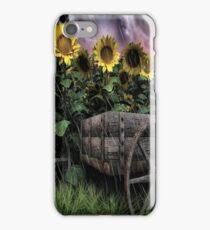 Sunflowers Abound- Rain iPhone Case/Skin