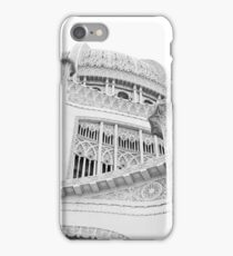 Bahai Temple Black and White 4 iPhone Case/Skin