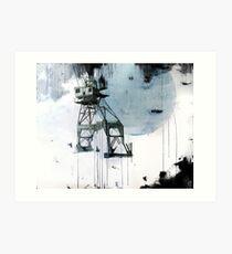 B-Shed Crane Art Print