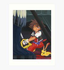 KH: Riku-Ansem Battle Art Print