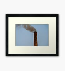 Industry Smoke Pollution From Factory Chimney Framed Print
