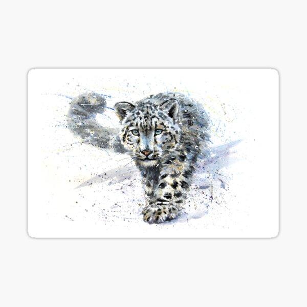 Snow leopard watercolor Sticker