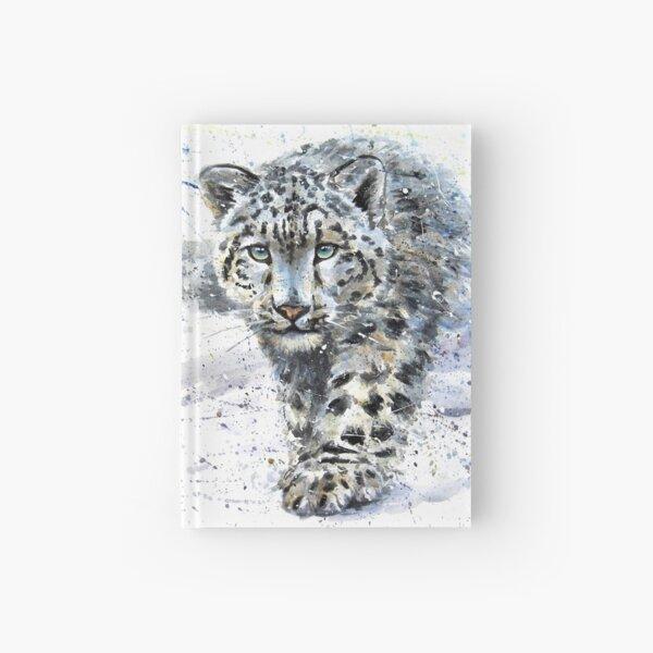 Snow leopard watercolor Hardcover Journal