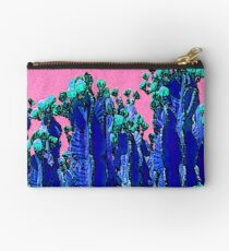 Cartoon Summer Cacti In The Pink  Studio Pouch