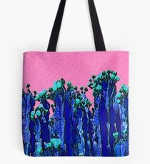 Cartoon Summer Cacti In The Pink  Tote Bag