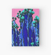 Cartoon Summer Cacti In The Pink  Hardcover Journal