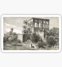 Engraving Temple of Isis at Philae Egypt Sticker