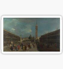 Francesco Guardi - Venice - Piazza San Marco (1) Sticker