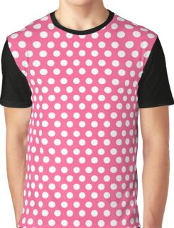 Polka over Pink (small dots) Graphic T-Shirt