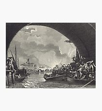 Escaping The Great Fire of London 1666 Photographic Print