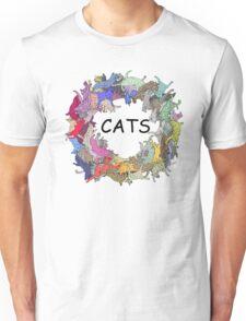 Colorful Rainbow Cats Unisex T-Shirt