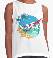 nasa palm beach logo Contrast Tank
