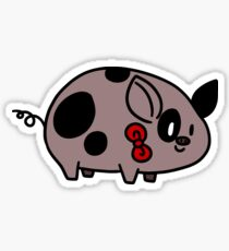 Spotted Bow Tie Piggy Sticker