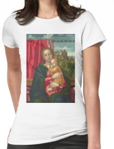 Francesco Morone - The Virgin And Child Womens Fitted T-Shirt