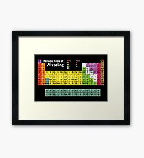 Periodic Table of Wrestling Framed Print