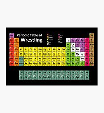 Periodic Table of Wrestling Photographic Print