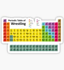 Periodic Table of Wrestling Sticker