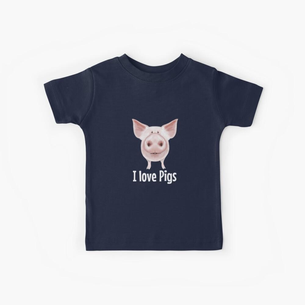 Ich liebe Schweine Kinder T-Shirt